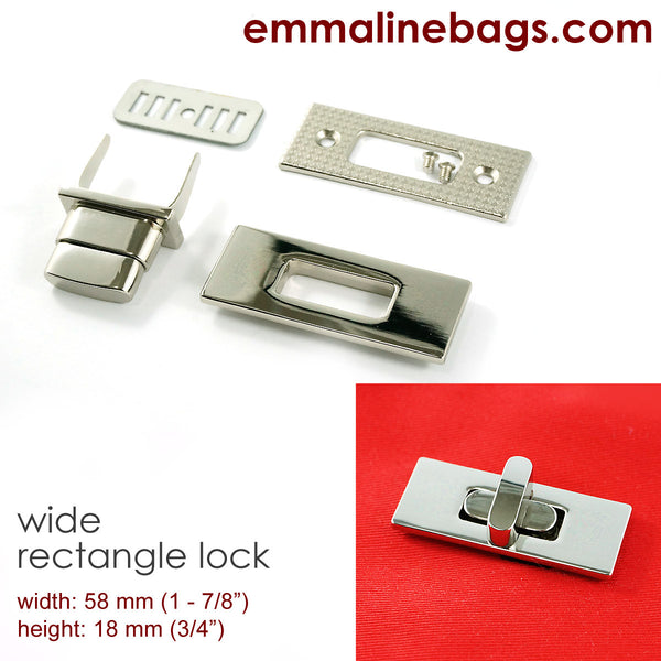 Wide Rectangular Bag Lock - An Emmaline Bags Exclusive