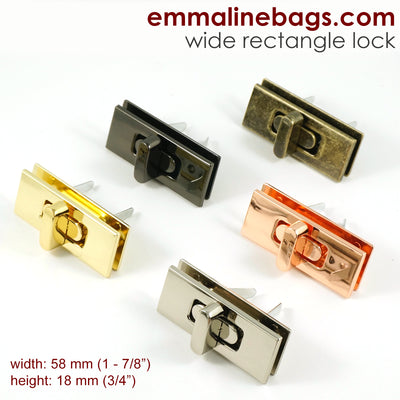 Wide Rectangular Bag Lock