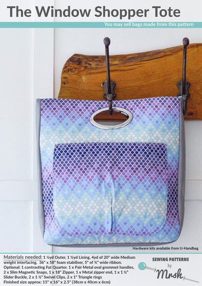 Window Shopper Tote by Sewing Patterns by Mrs H (Printed Paper Pattern)