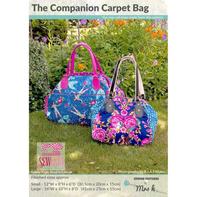 The Companion Carpet Bag by Sewing Patterns by Mrs H (Printed Paper Pattern)