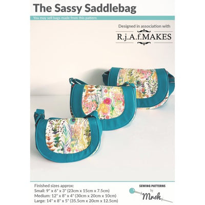 Sassy Saddlebag by Sewing Patterns by Mrs H (Printed Paper Pattern)