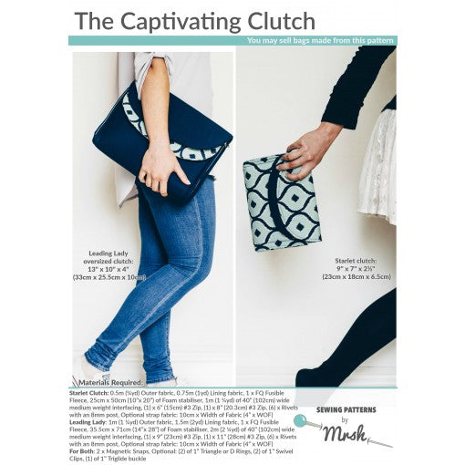 The Captivating Clutch by Sewing Patterns by Mrs H (Printed Paper Pattern)