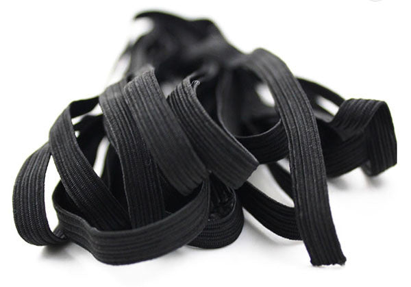 "Elastic in Black, 3mm (1/8"" ) Sold per 1 Yard"