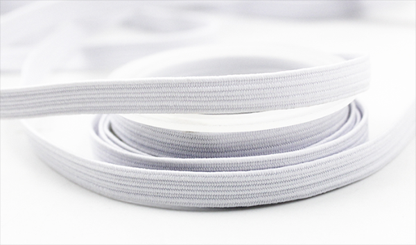 "Elastic in White, 3mm (1/8"" ) Sold per 1 Yard"