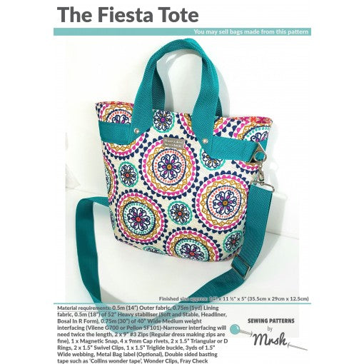 The Fiesta Tote by Sewing Patterns by Mrs H (Printed Paper Pattern)