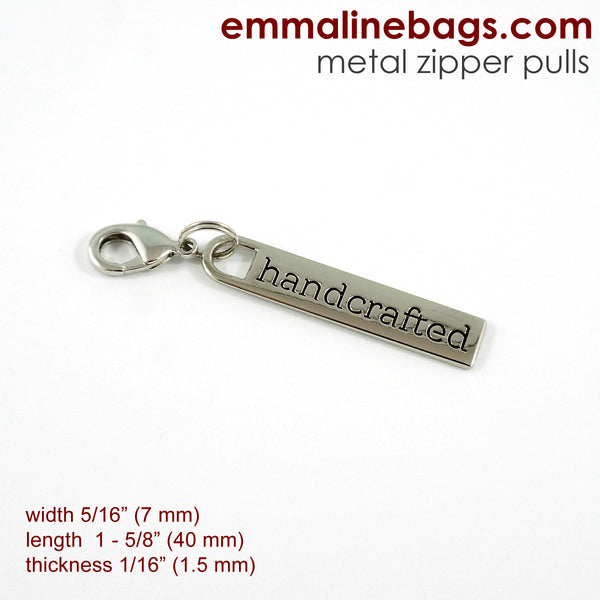 "Zipper Pulls: ""handcrafted"""
