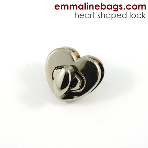 Heart Shaped Bag Lock - Choose from 2 Finishes!