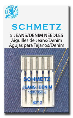 Schmetz Jeans/Denim Needles (Size 80/12)
