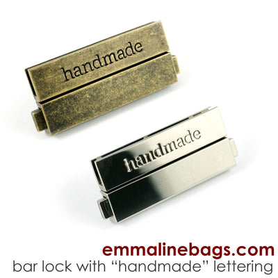 "Large Bar Lock with ""handmade"" Lettering"