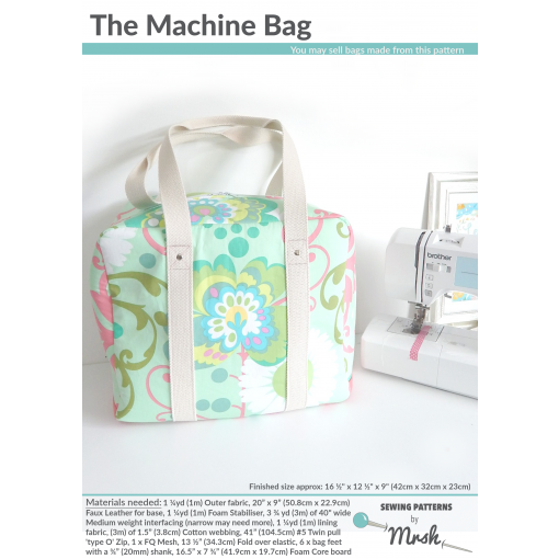 The Machine Bag by Sewing Patterns by Mrs H (Printed Paper Pattern)