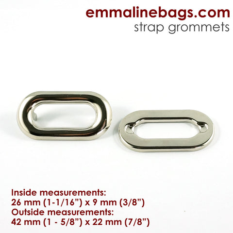 Grommets: Oblong in Nickel (4 Pack)