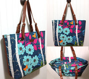 The Totes Ma Tote in Blue and Red Floral