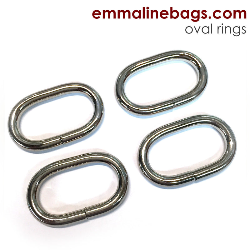 "OVAL O-Rings: 1-1/4"" (34 mm)  in Nickel Finish"