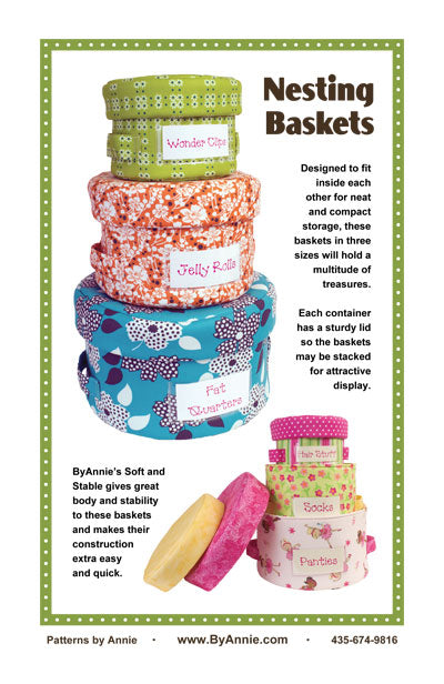 Nesting Baskets -  from By Annie (Printed Paper Pattern)