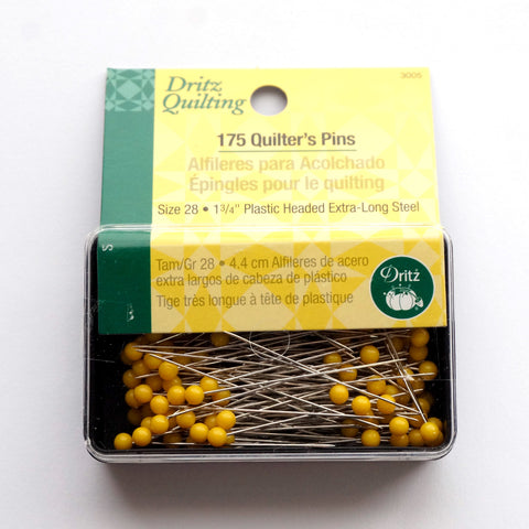 Long Yellow Head Quilter's Pins