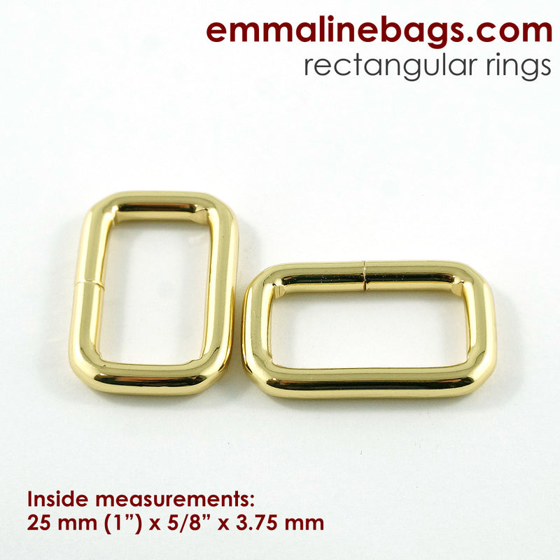 Rectangular Rings: (4 Pack)