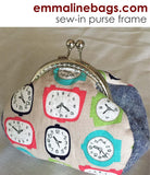 Curved Sew-in Purse Frame (Kiss Lock) - Nickel