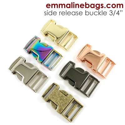 "Side Release Buckle:  3/4"" (18 mm) (Choose from 6 Finishes)"