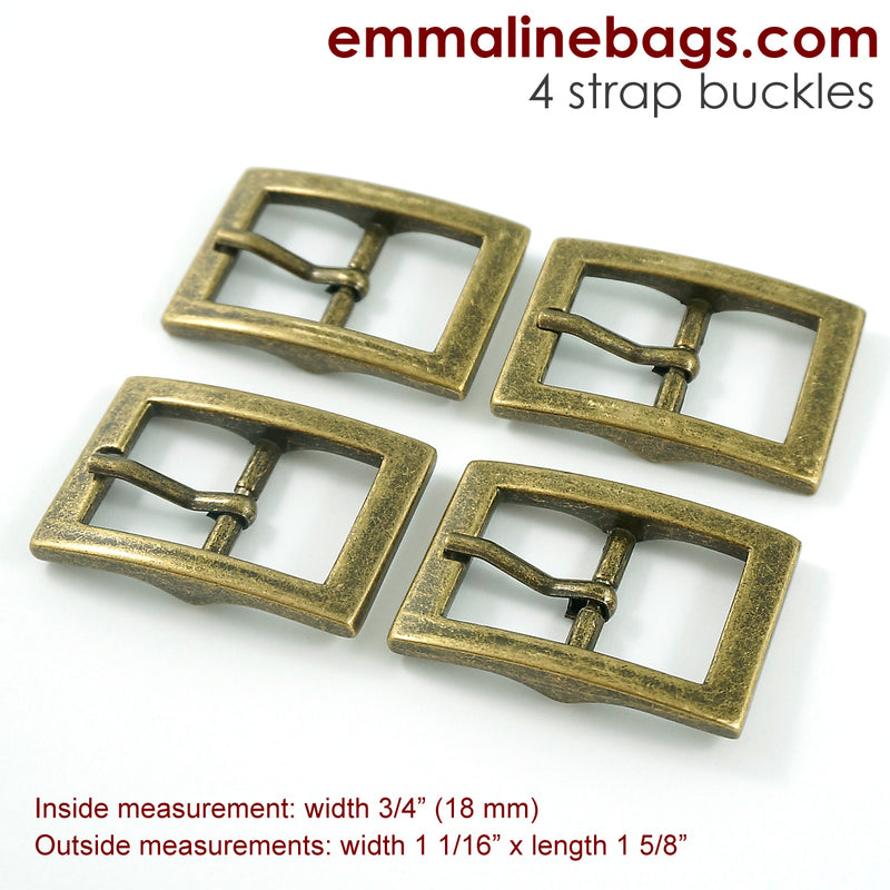 "Buckles:  3/4"" (18 mm) (4 Pack)"