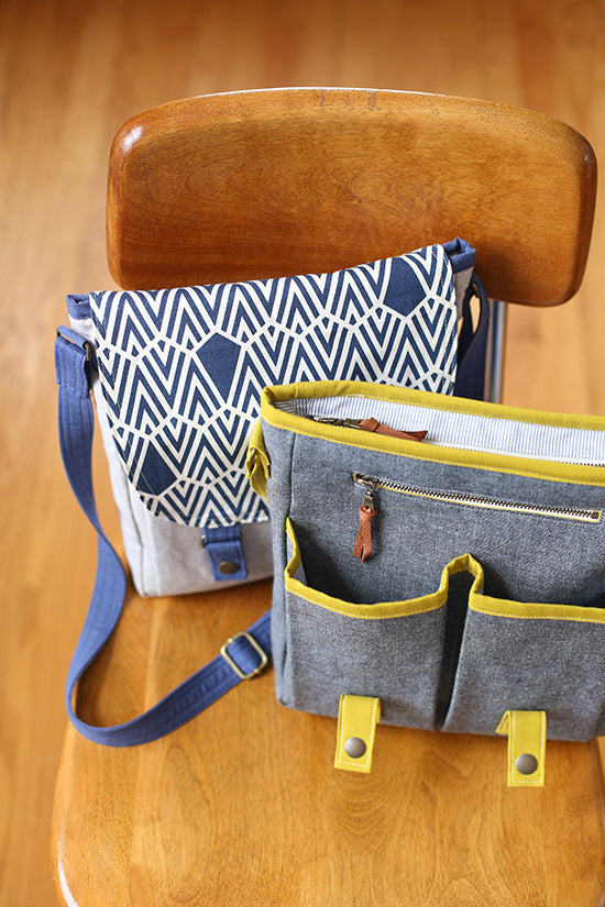 Campfire Messenger Bag by Noodlehead (Printed Paper Pattern)