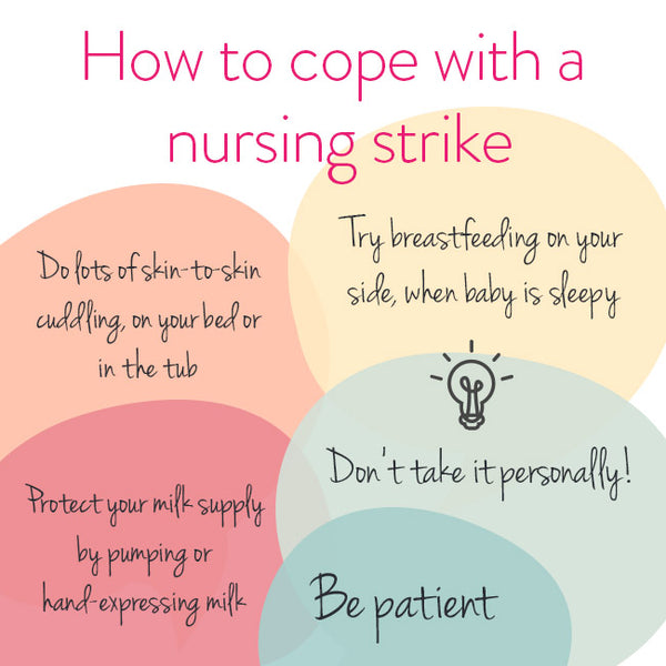 How to deal with a nursing strike, biting or a distracted baby