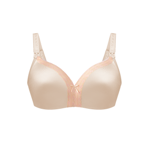 Bliss With Lace Nursing Bra - chai-with-lace