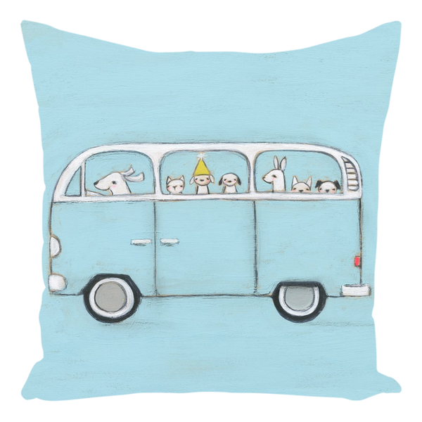 Blue VW Throw Pillow