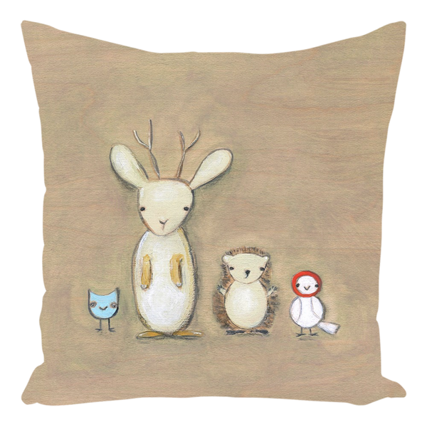 Jackalope and Friends Throw Pillow