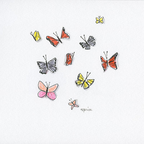 #18 Butterflies | Original Ink Drawing