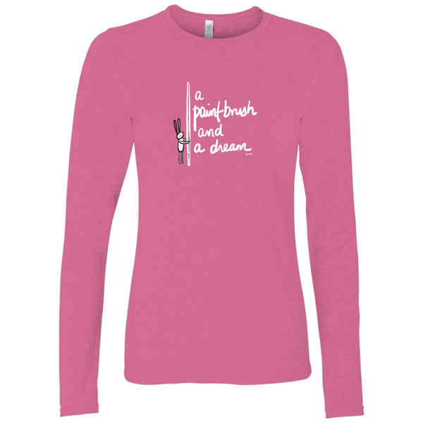 A Paint Brush and a Dream on Pink | Long Sleeve Shirt