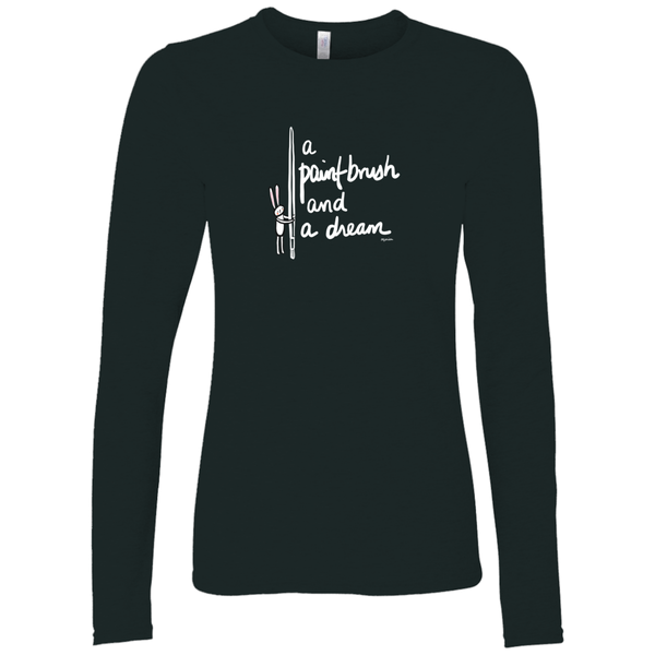 A Paint Brush and a Dream on Black | Long Sleeve Shirt