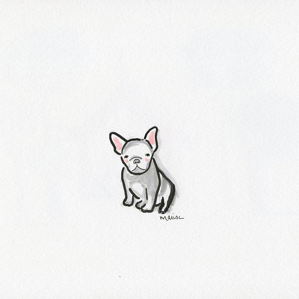 #21 Frenchie | Original Ink Drawing