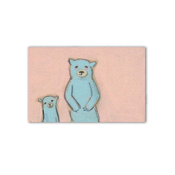 "blue bears  | 3"" x 2"" original"