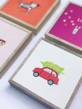 red fiat | canvas or mini framed canvas | 2 minis + 1 canvas available
