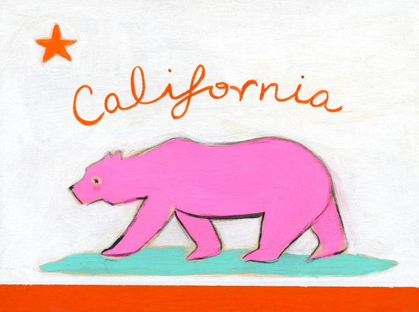 california bear pink | canvas