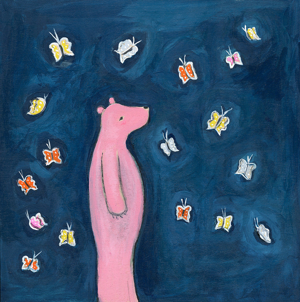a bear with butterflies | original