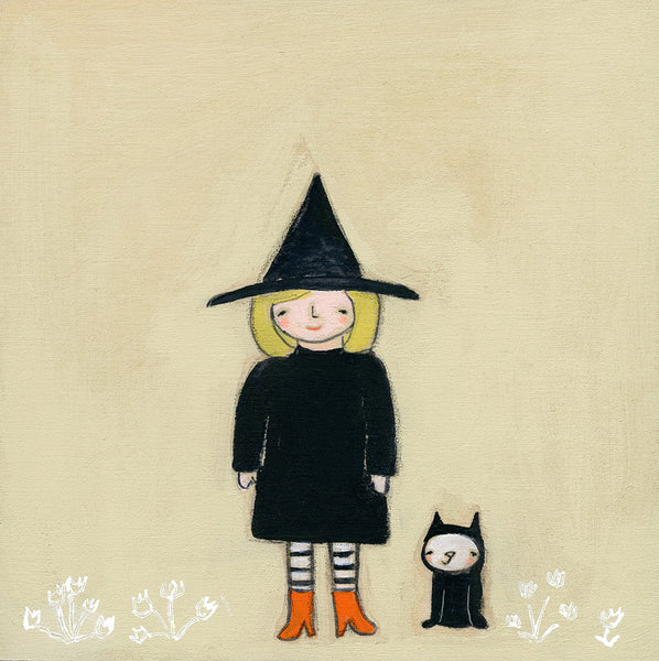 a girl and her cat  | original