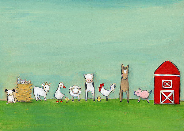 at the farm | print