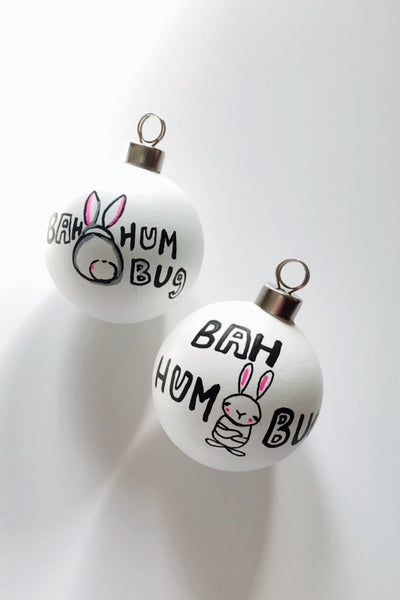 Bah Hum Bunny Ornament