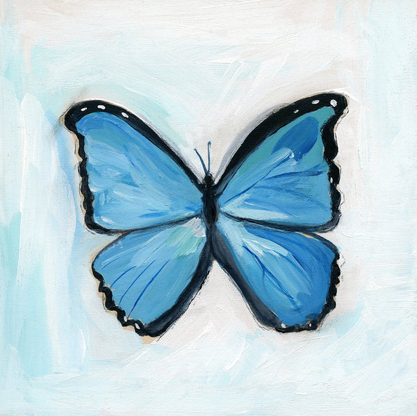 Blue Butterfly ~ Expect Beautiful Change | print