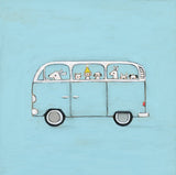 blue vw | canvas or mini framed canvas | 1 of each available