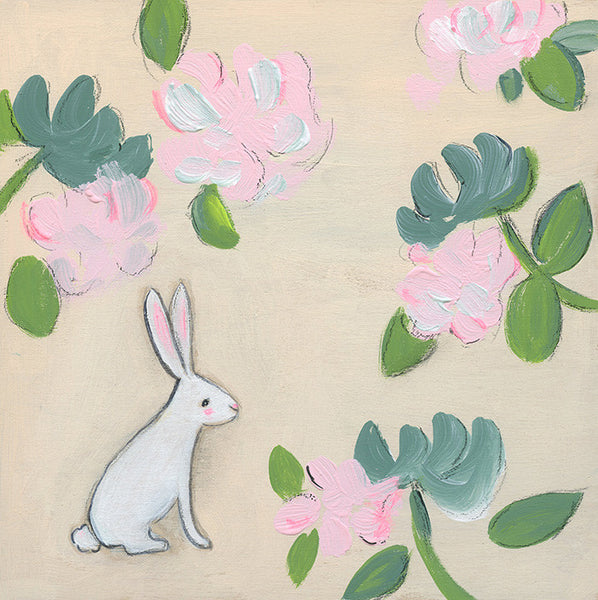 flora fauna bunny | canvas | 1 available