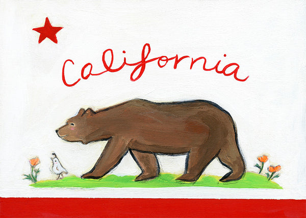 california bear | canvas
