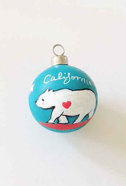 California Bear Ornaments