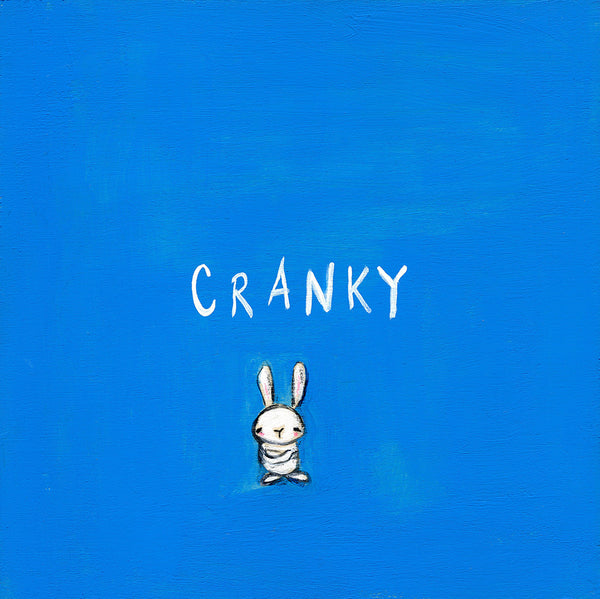 cranky bunny | canvas or mini framed canvas | 2 minis + 1 canvas available