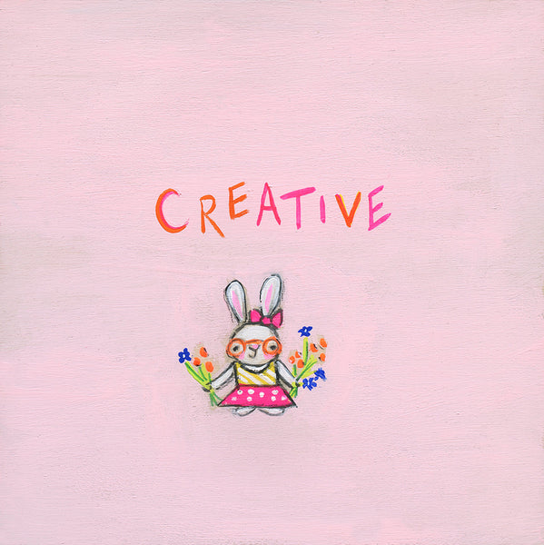 Creative Bunny | canvas or framed mini