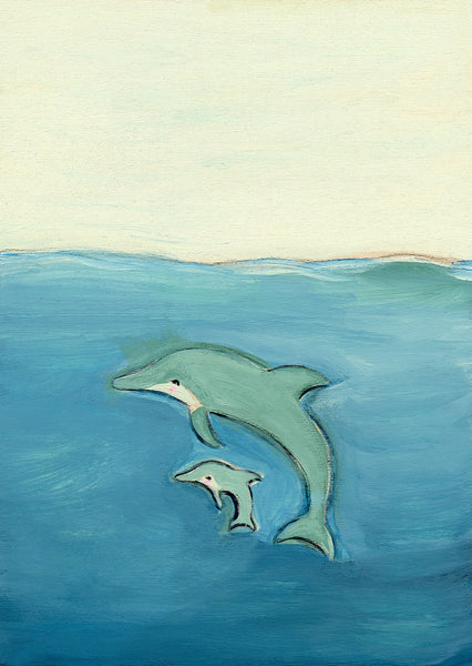 dolphin | canvas or mini framed canvas | 2 minis + 1 canvas available