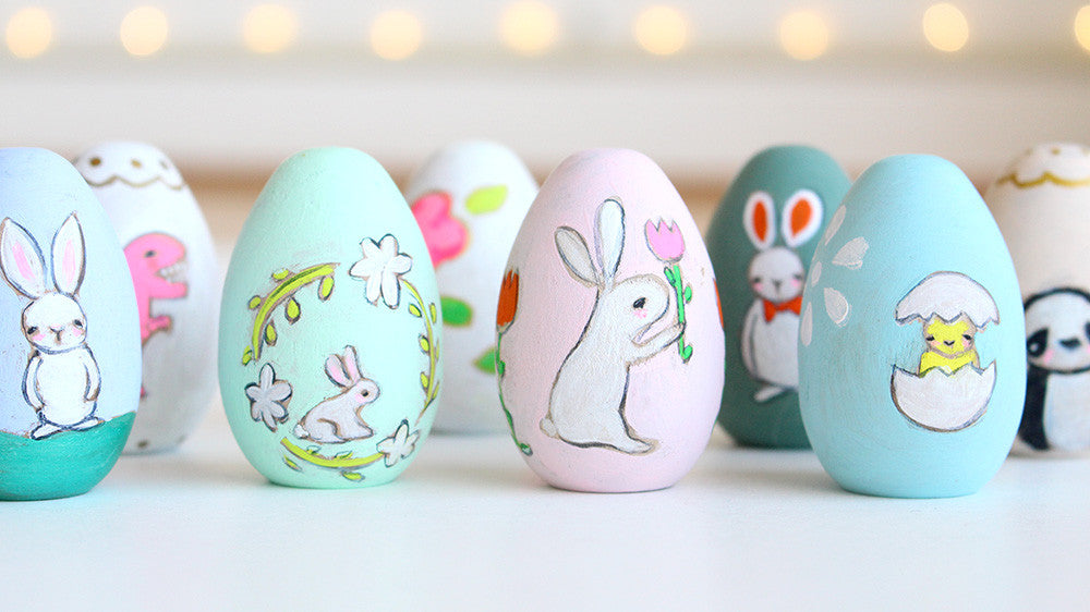 Wooden Eggs | hand painted | pre-order by Monday March 20