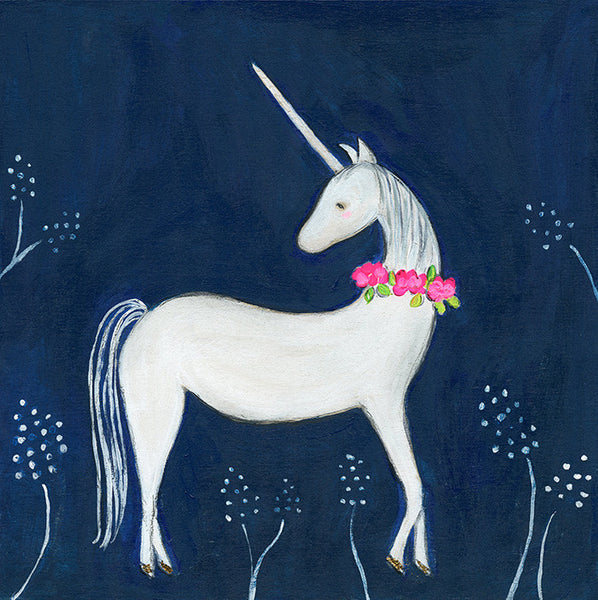 enchanted unicorn | print