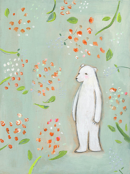 flora fauna bear | canvas | 2 available